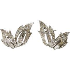 Vintage  Boucher Clear Crystal Earrings