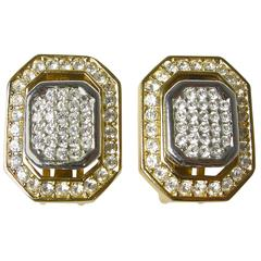 Vintage 1970s Signed Dior Crystal Earrings