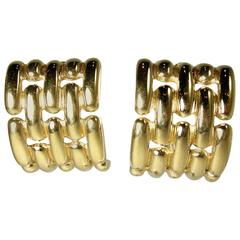 Vintage 1990s Givenchy Ribbed Earrings