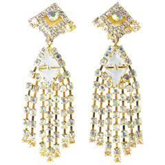 One-Of-A-Kind Robert Sorrell Crystal Chandelier Earrings