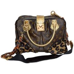 RARE Limited Edition Louis Vuitton Monogram & Leopard Pony Hair Adele Bag