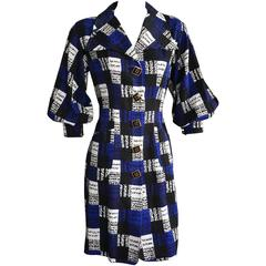 CHRISTIAN LACROIX Graphic Print Pique Shirt Style Dress