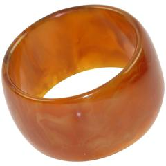 Bakelite Bracelet Bangle honey amber marble