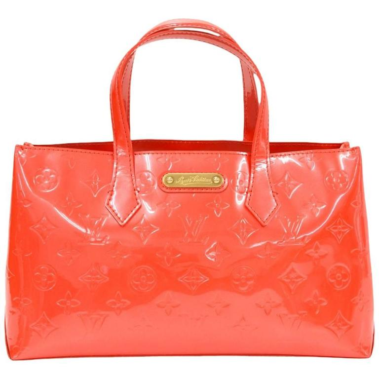 Louis Vuitton Willshire Red Vernis Leather Hand Bag