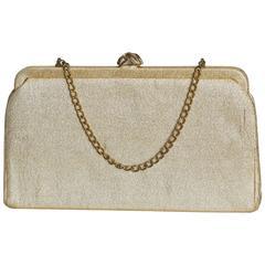 1950's Golden Sparkling Clutch Bag
