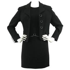 Moschino Cheap & Chic Black Chain & Ring Dress Suit