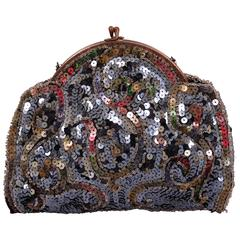 1920's Beaded Clutch Made in France
