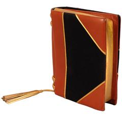 """Paloma Picasso Leather & Toile """"Book"""" Bag"""