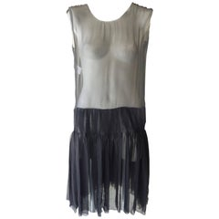 Stunning Rochas Sheer Black Silk Dress (42 itl)