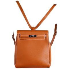Hermès Kelly Ado PM Backpack Bag - Brown Togo Leather
