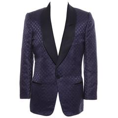Tom Ford Men's Navy Blue Silk LInen Dinner Jacket, Spring - Summer 2012