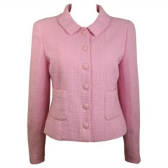 Chanel Classic Pink Tweed Boucle Cropped Jacket