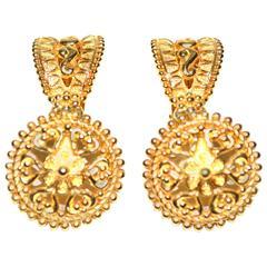 Christian Dior Golden Knocker Earrings