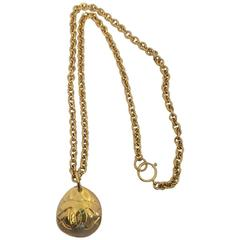 "Chanel Gold ""Sautoire"" Pendant Necklace"