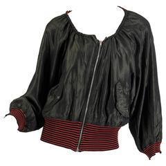 Reversible Polka Dot Jean Paul Gaultier Military Bomber Jacket