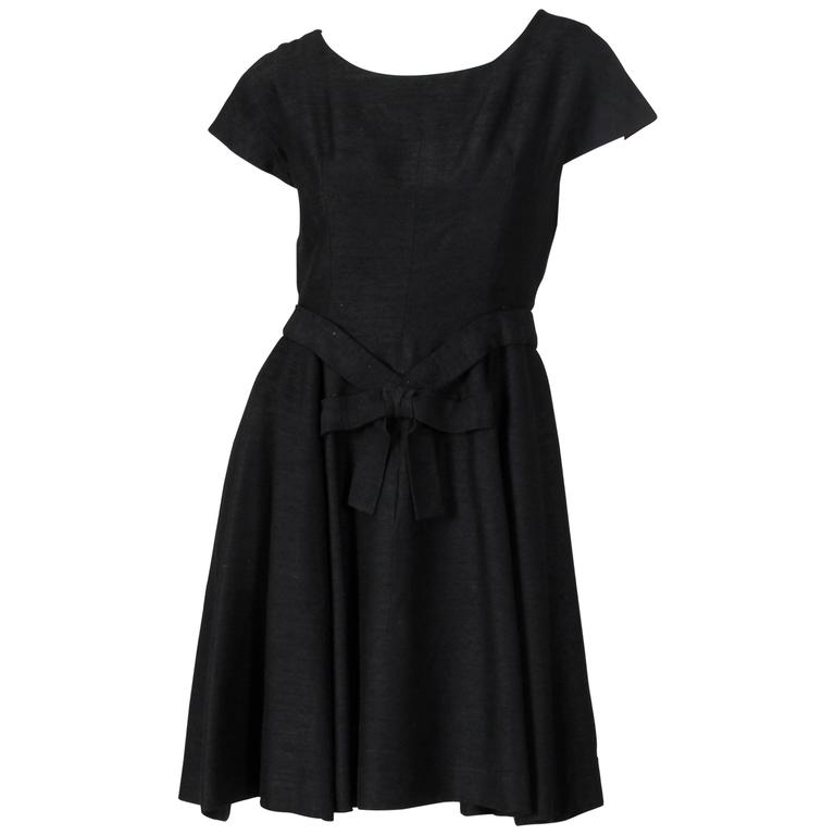 Christian Dior Black Silk Dress For Sale