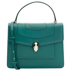 Bulgari Serpenti Forever Flap Bag in Green