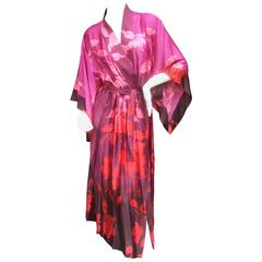 Natori Luxurious Floral Print Robe New With Tags