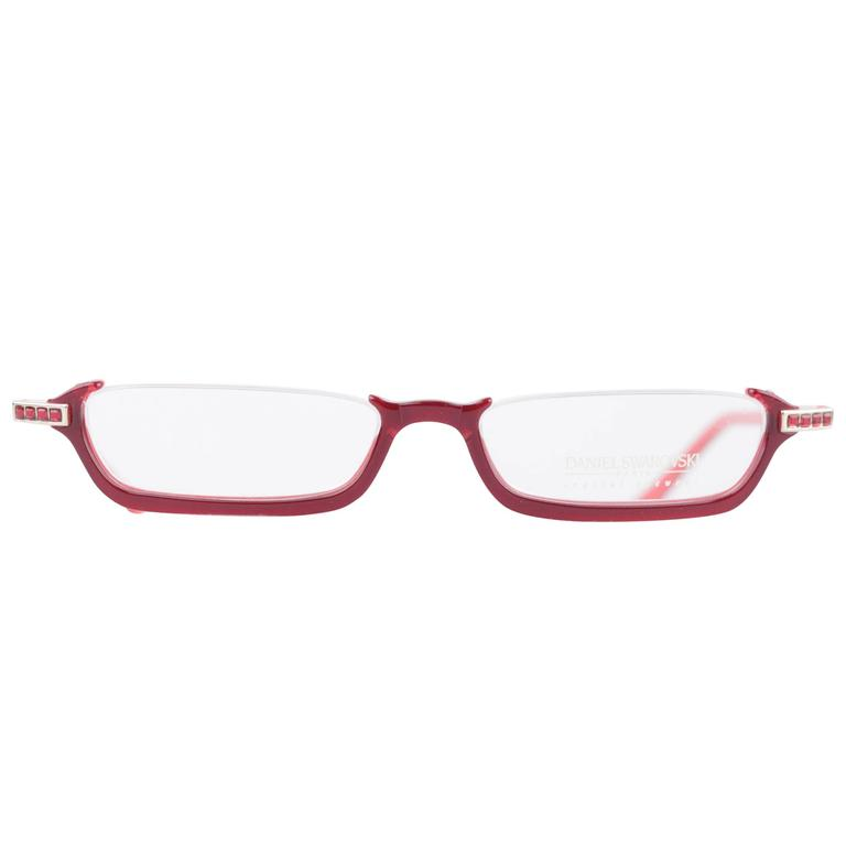 DANIEL SWAROVSKI Half Rim FRAME S141 20 6053 Spectacles EYEGLASSES w ...