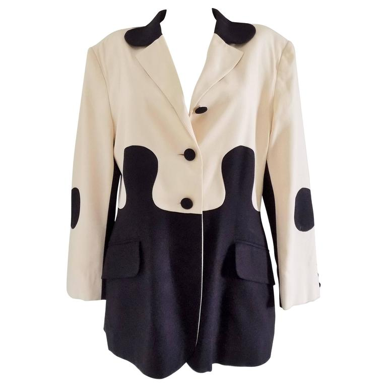 1980s Moschino Cheap And Chic Puzzle Jacket For Sale At 1stdibs