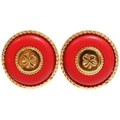 1980s Iconic Chanel Clover Earrings