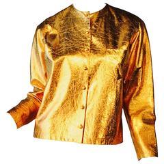Voris Marker Gilt Leather Jacket, ca.1950