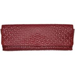 Giorgio Armani Burgundy Napa Leather Purse/Clutch