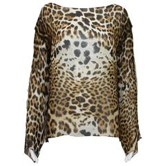 Tom Ford for Yves Saint Laurent S/S 2002 Safari Collection Silk Blouse Fr. 38