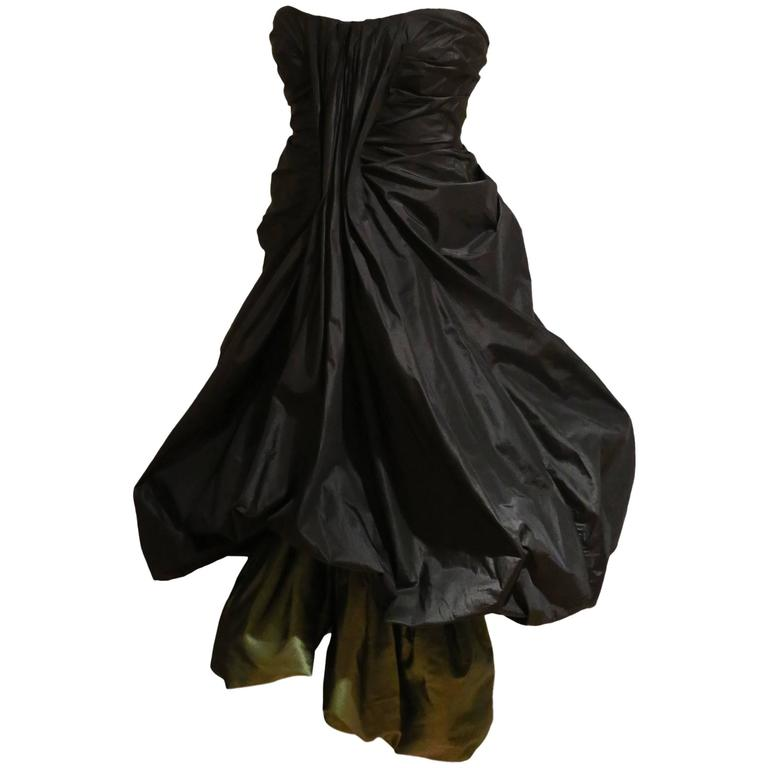 Alexander McQueen silk taffeta evening dress, witches collection A/W 2007