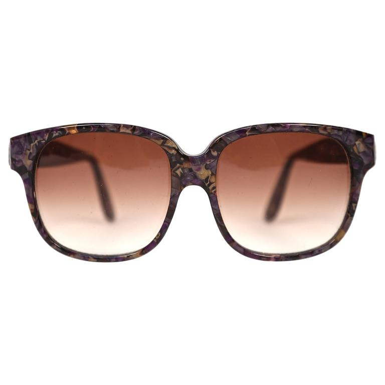 1970's EMMANUELLE KHANH oversized mosiac sunglasses For Sale
