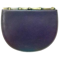 Vintage MOSCHINO purple pigskin oval shape clutch wallet bag by Red Wall