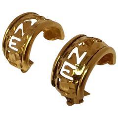 Chanel 1980s Hoop Earrings