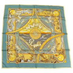 HERMES  Scarf Rythmes du Monde by Laurence Bourthoumieux.
