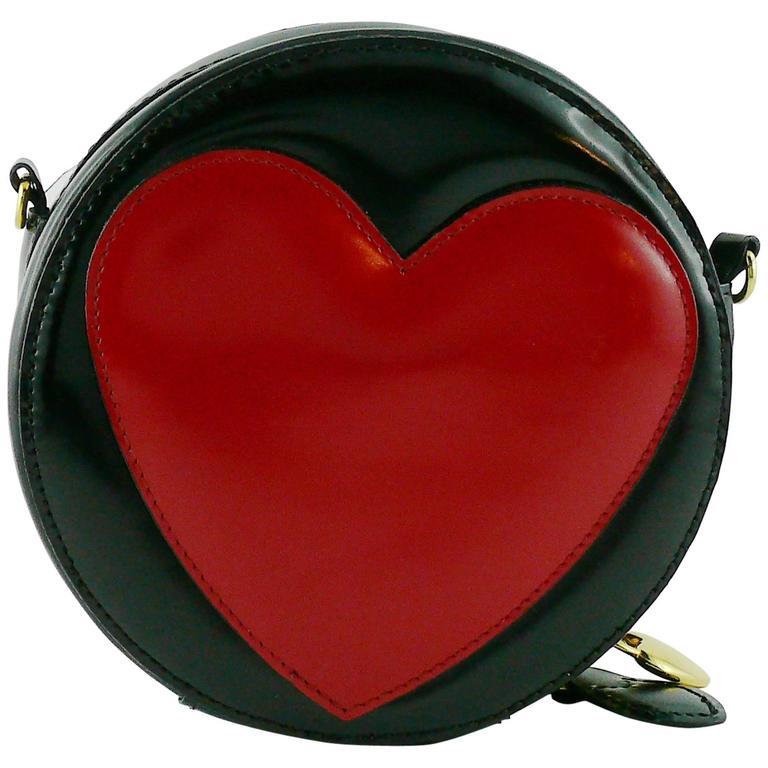 Moschino Vintage Iconic Appliqué Heart Cross Body Micro Bag