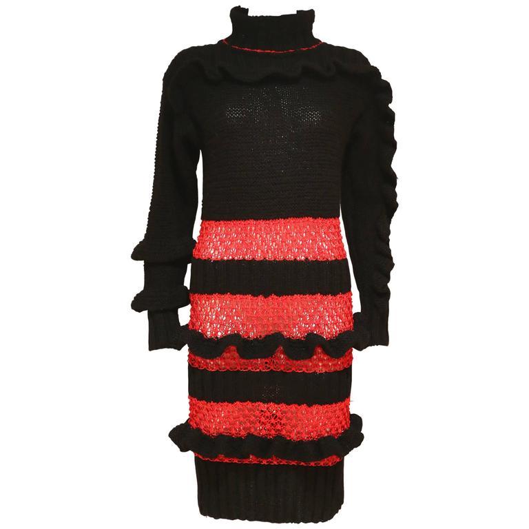Bodymap knitted dress, Autumn-Winter 1985  1