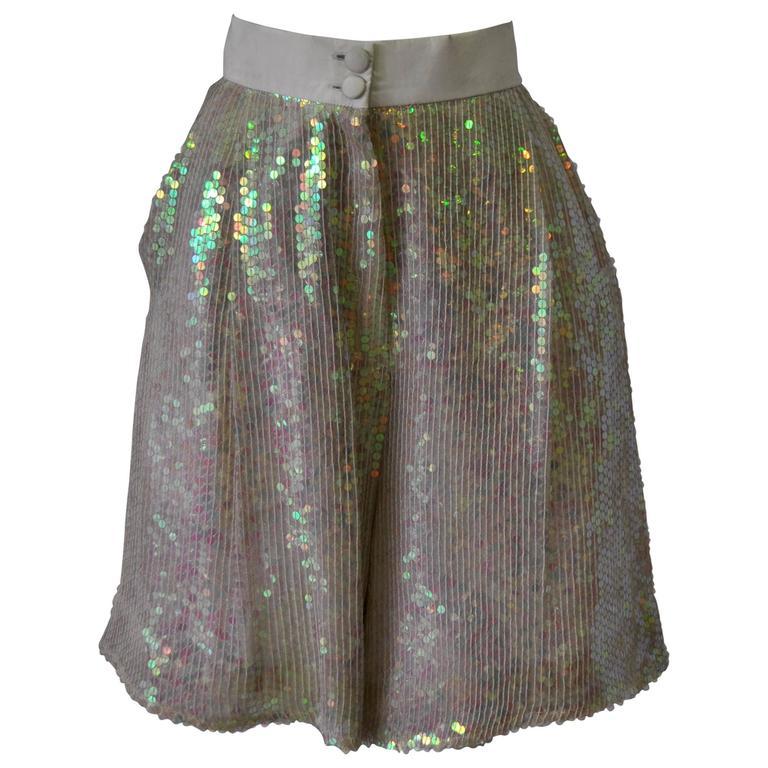 Luminous Ella Singh Iridescent Sequin Bermuda Shorts