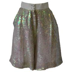Luminous Ella Singh Iridescent Sequin Bermuda Shorts