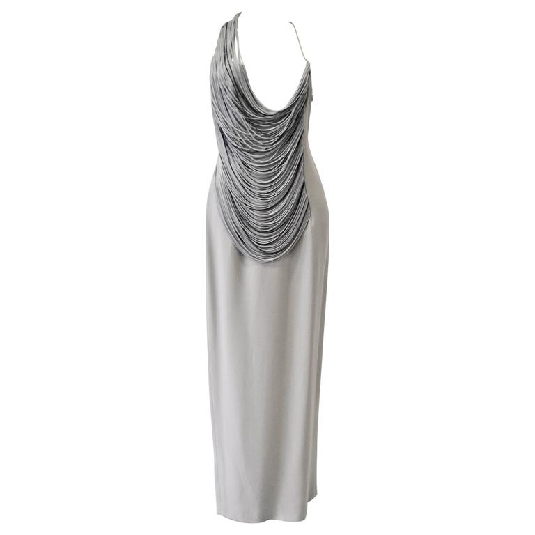 Luxurious Angelo Mozzillo Multistrand Chord Maxi Dress For Sale