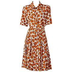 Yves Saint Laurent Printed Day Dress