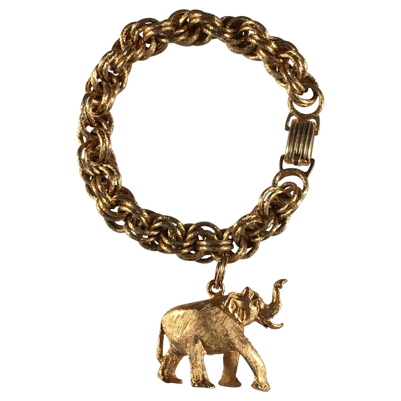 1964 elephant charm bracelet at 1stdibs