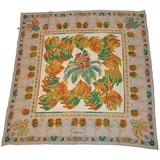 """Cartier """"Must be Cartier"""" """"Flamingos & Palm Trees"""" Silk Crepe di Chine Scarf"""