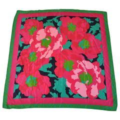 Liz Claiborne Bold Multi-Color Floral Silk Scarf