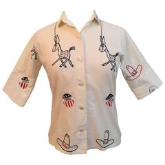1964 Democratic Convention Blouse by The Vested Gentress