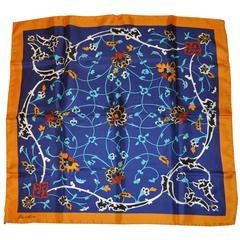 Estee Lauder Bold Multi-Color Floral Silk Scarf