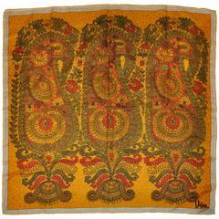 "Vera ""Gold-Piece Collection"" Bold Multi-Floral Silk Scarf"