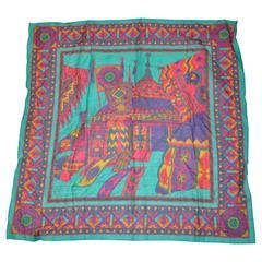 Ginnie Johansen Multi-Color 100% Cotton Scarf