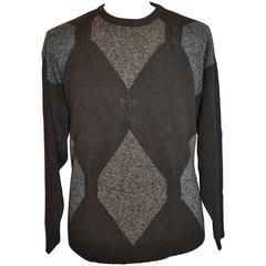 Les Copains Men's Cashmere Blend Multi-Color Pullover Top