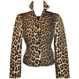 Moschino Leopard Print Fully Lined Jacket