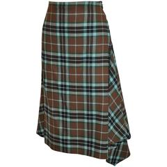 Givenchy Multi-Color Plaid Deconstructed Skirt
