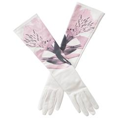 Christian Dior By Raf Simons Ivory Leather Gloves, Pre - Fall 2014
